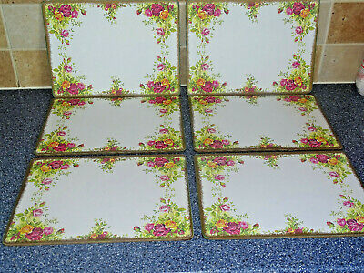 Royal Albert Old Country Roses Large Place Mats X6 Tea Set Dinner Service
