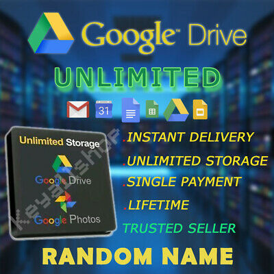 Google Drive UNLIMITED Cloud Storage LIFETIME Gsuite NOT edu + Onedrive 5tb