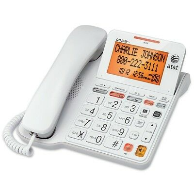 AT&T CL4940 Corded Senior Phone w Answering Backlit Display Extra Large Buttons