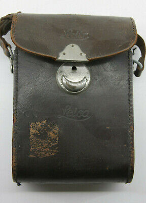 Vintage Leica Camera Brown Leather Case with Strap - Used - P11J