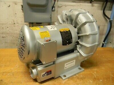 Gast 2-1/2 HP Regenerative Air Blower 230/460V 3 Phase R5325A-2 Damaged