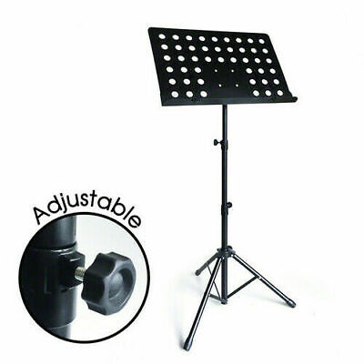 Adjustable Conductor  Music Stand Metal Sheet Tripod Mount  Holder Folding Stage