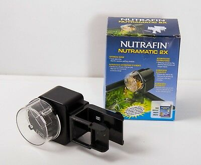 Nutrafin nutramatic 2x automatic fish feeder aquarium fish food dispenser Hagen