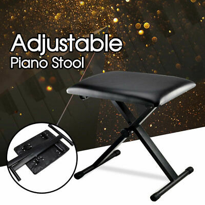 Piano Stool Keyboard  Adjustable Portable Folding 3 Way Seat Bench Chair - Black