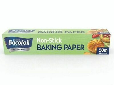 "Baco Baking Paper 18"" Roll 450mm 50Mtr Cooking Baking Kitchen Catering"