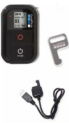 GoPro WiFi Remote Control + Key for Hero 7/6/5/4/3+/3/Session + charging cable