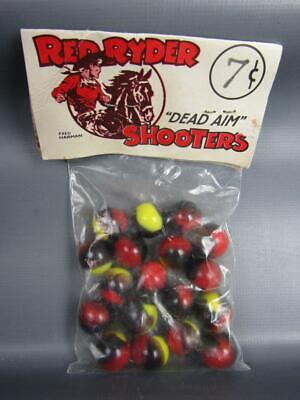 """Modern Marble King Marbles Fantasy Packaged as """"RED RYDER SHOOTERS"""" 6615"""