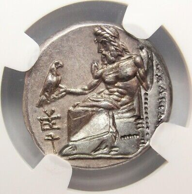 NGC CH AU FINE STYLE Alexander The Great Drachma. Spectacular ancient Greek coin
