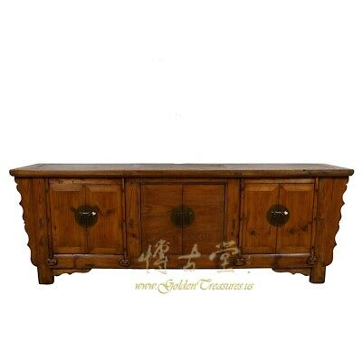 Antique Chinese Rustic Long Sideboard/Buffet Table, Credenza
