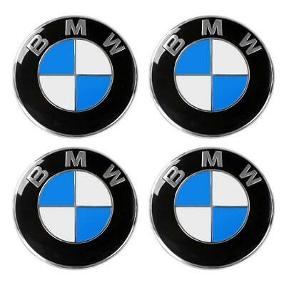 4PCs 56mm/65mm Car Wheel Center Hub Cap Emblem Badge Decal Sticker for BMW, Blue