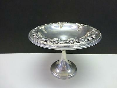 Wallace Pierced GRAND BAROQUE Sterling Silver Footed Candy Nut Bowl Compote 5""