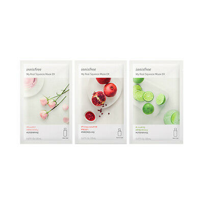 [INNISFREE] My Real Squeeze Mask EX (2019) - 3pcs