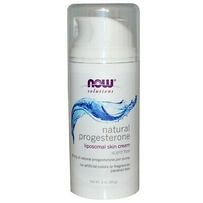 Now Foods Natural Progesterone Balancing Unscented Skin Cream 3 oz pump (85g) .