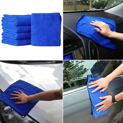 5/10PCS Microfiber Wash Clean Towels Cars Cleaning Duster Soft Cloth Car TowelTB