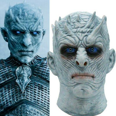Game Of Thrones White Walker Night's King Mask Cosplay Zombie Party Helmet Toy