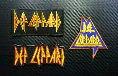 DEF ROCK MUSIC HEAVY METAL WOVEN BAND BADGE Embroidered Iron Sew On Patch Logo