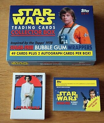 2017 Star Wars Sugar-Free Bubble Gum Wrappers 49 Trading Card Set 1978 Topps