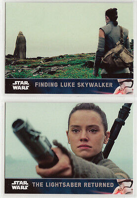 2016 Star Wars The Force Awakens Series 2 Short Print Cards 101 & 102 Rey / Luke
