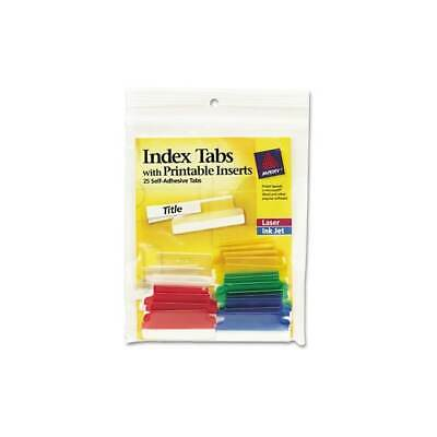 graphic about Printable Self Adhesive Tabs referred to as SELF-ADHESIVE TABS WITH White Printable Inserts, 1 Inch