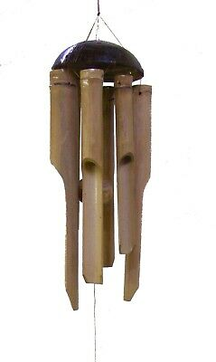 Fairtrade small bamboo and coconut wind chimes UK DISPATCH 25cm chimes  garden