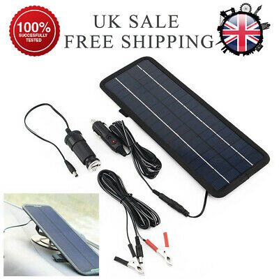4.5W Car Boat Yacht Solar Panel Trickle Battery Charger Outdoor Power Supply 12V