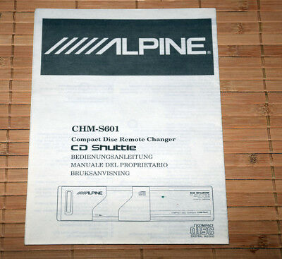 Alpine • CHM-S601 • Anleitung • Owners Manual • Manuale • Bruksanvisning