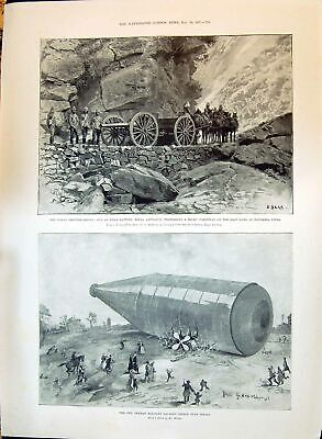 Old 1897 Indian Frontier German Military Balloon Monument William Owe Victorian