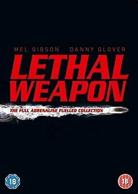 Lethal Weapon Box Set Collection DVD Includes 1 2 3 4 Films - Complete Boxset