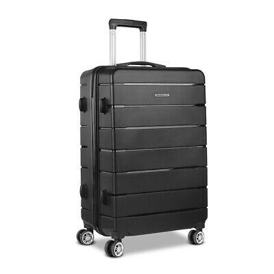 Wanderlite Polypropylene Luggage 28' Suitcase PP Trolley TSA Travel Hard Case BK