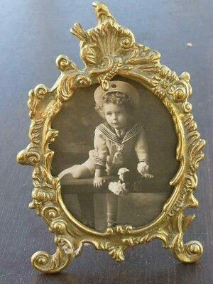 Vintage Faux Antique Solid Brass Ornate Photo Frame Picture Frame Art Nouveau