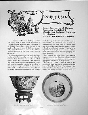 Old Chinese Porcelain Exhibited Members Roy. Am. Art Soc.Pages 1906