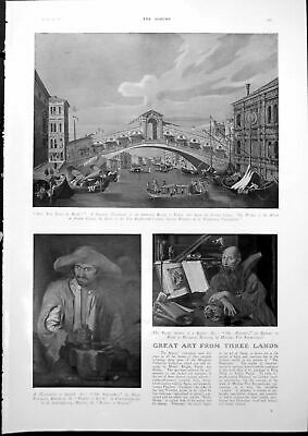 Antique Old Print Venetian Canal Bridge Nutcracker Alchemist Craven A 1927 20th