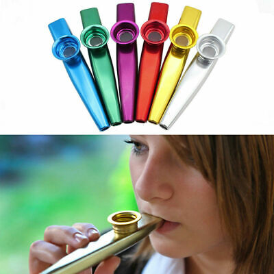 Hot Metal Kazoo Harmonica Mouth Flute Kid Party Musical Instrument Gift Durable