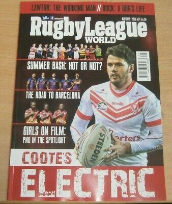 Rugby League World magazine May 2019 Coote's Electric + Summer Bash, Barcelona