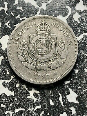 1938 100 Reis Small Size Old Brazil Coin Circulated