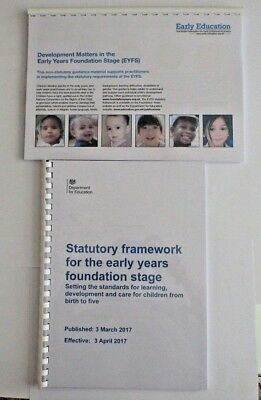 EYFS Development Matters & Statutory Framework For Early Years In Full Colour