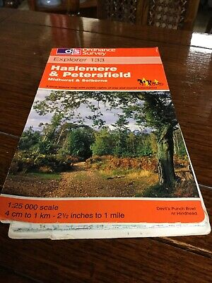 Map Ordnance Survey Haslemere  & Petersfield