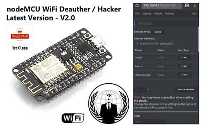 WIFI JAMMER, SSID SPAM, Deauth & Ethical Hacking Tool