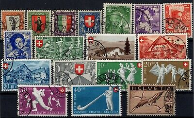 P116157/ Switzerland / Lot 1923 – 1951 Used 180 E