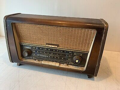Rare Vintage Tivoli 300 Tube Radio AM FM Olympic Continental New York LARGE Wood