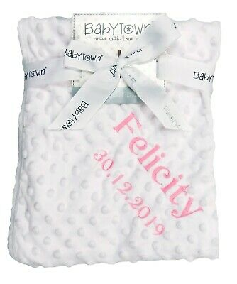 Baby Blanket Set Unisex Silver Grey Gorgeous Baby Shower Gift