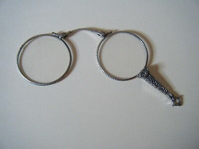 Pretty 1870s Sterling7K 979/1323 Lorgnette Opera Glasses Antique Eyeglasses L3