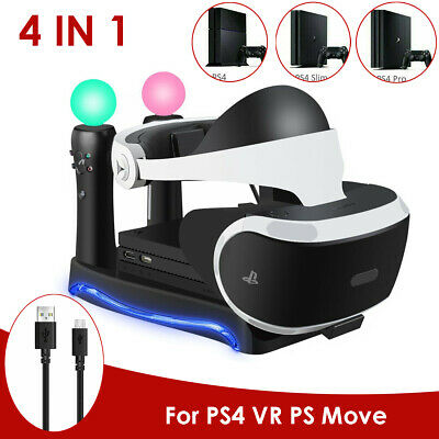 4 in 1 Charger Dock Charging Stand Holder For PS4 VR II PS Game Controller UK