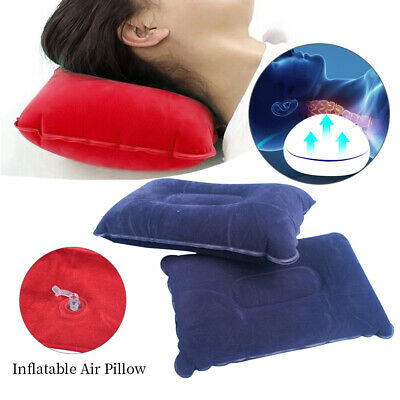 Inflatable Pillow Travel  Cushion Camping Beach Plane Head Rest Support PVC