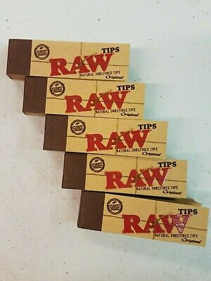 Raw Tips Natural Unrefined Tips Original ( 5 packs )