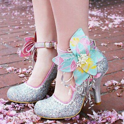 c668ac1563 Irregular Choice Sweet Melody (D) White Glitter High Heel Stiletto Shoes