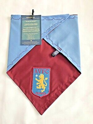 Aston Villa FC Football Team Club Dog Bandana Scarf Red Blue + Patch XS S M L XL