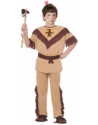 Brave Warrior Boys Child Native American Indian Halloween Costume