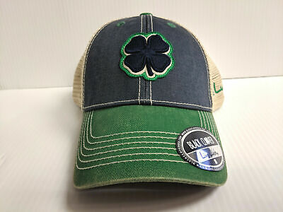 8b53feaa Black Clover Cap Two Tone Vintage 2 Mesh Adjustable Navy Golf Hat Live Lucky