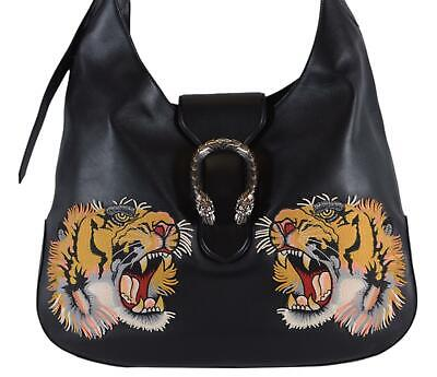 ed3547576 NEW Gucci $2,995 Black Extra Large Maxi Dionysus Embroidered Tiger Hobo  Purse